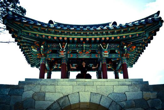 Korean Temple Gate by PtiNono