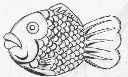 Fish Waffle Sketch by Roxyielle