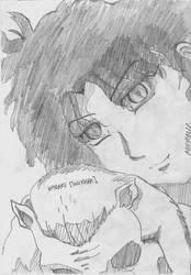 Inuyasha: Naraku Sketch by Roxyielle