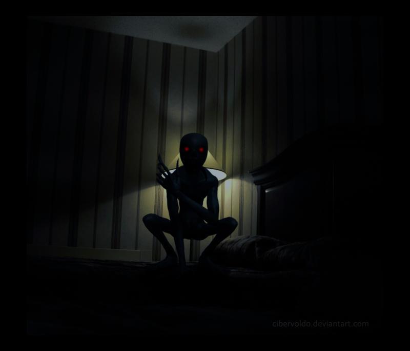 Night Visitor by cibervoldo