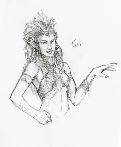 Nariki Troll Shaman by gyrfalconthegray