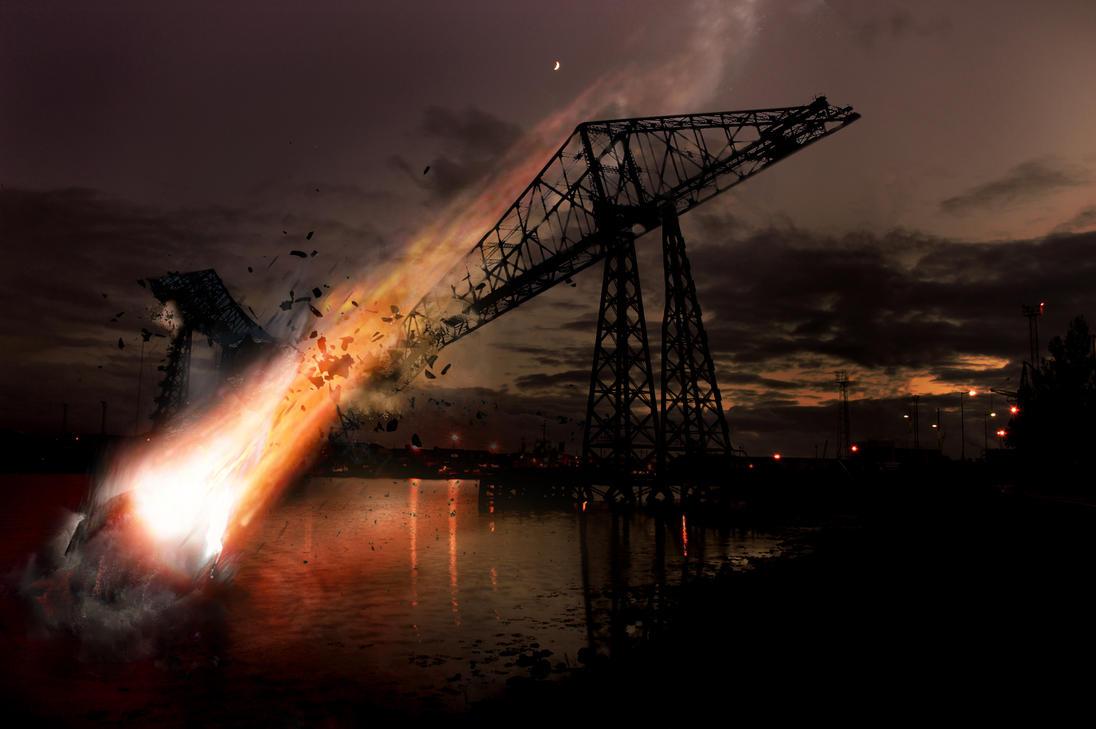 Middlesbrough Transporter Bridge Destroyed By Dcidigital