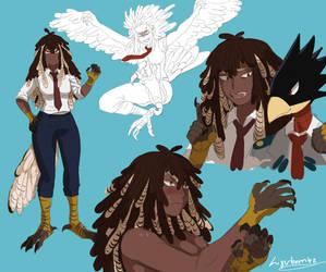 Harpy Hero: Shinobu by ligerbombz