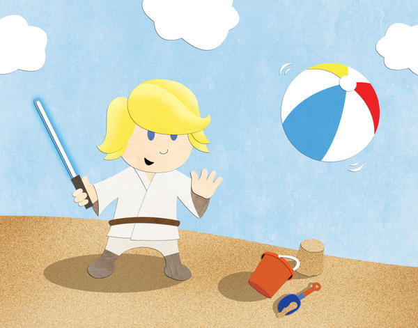 Luke at the Beach by NixonGraphix