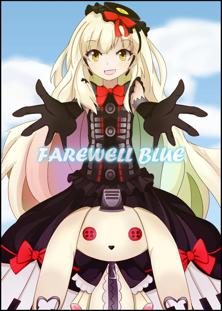 Mayu - farewell blue fan art by SylphineSnowphire