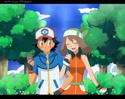 Collab: Ash And May! by Esha-R