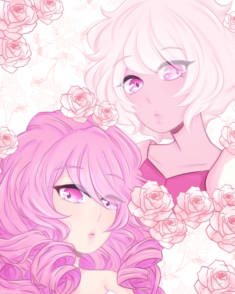 Fan art for Pink diamond/Rose quartz I really enjoyed drawing this since I've been planning to draw a fan art of them  also might be making this a print in a convention this summer~