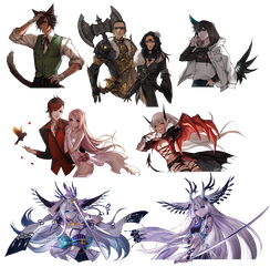 Speed Painting Commission Batch 5 by Leirix