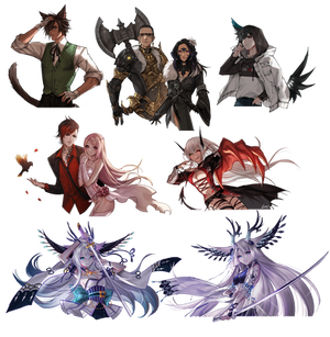 Speed Painting Commission Batch 5