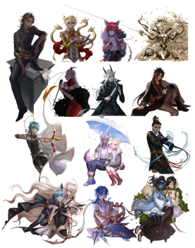 Speed Painting Commission Batch 7
