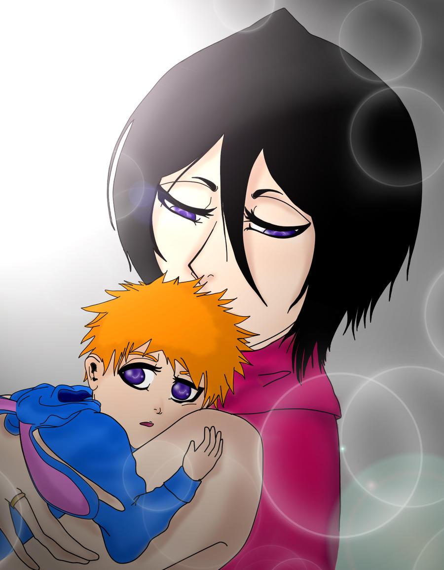 Ichigo And Rukia Baby Mommy Rukia by Rawgrap...