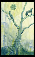 green tree by omppu
