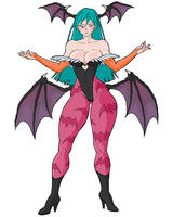 Morrigan Aensland | COMMISSION by MCQ07Gn