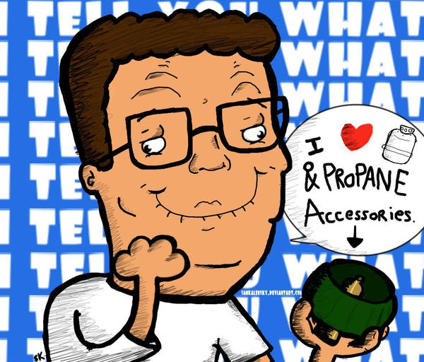 HANK HILL. by SamKalensky
