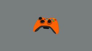 Xbox controller orange wallpaper [1920x1080]