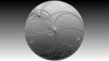 Black-White Orb HD Wallpaper by cpp1