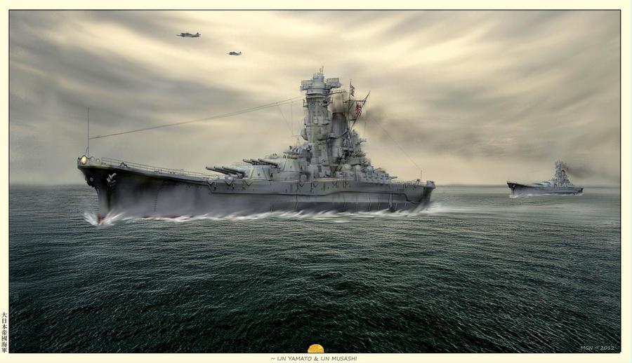 IJN Yamato by zulumike
