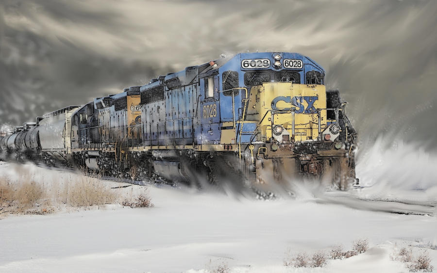 Winter Diesel in the Prairieland by zulumike