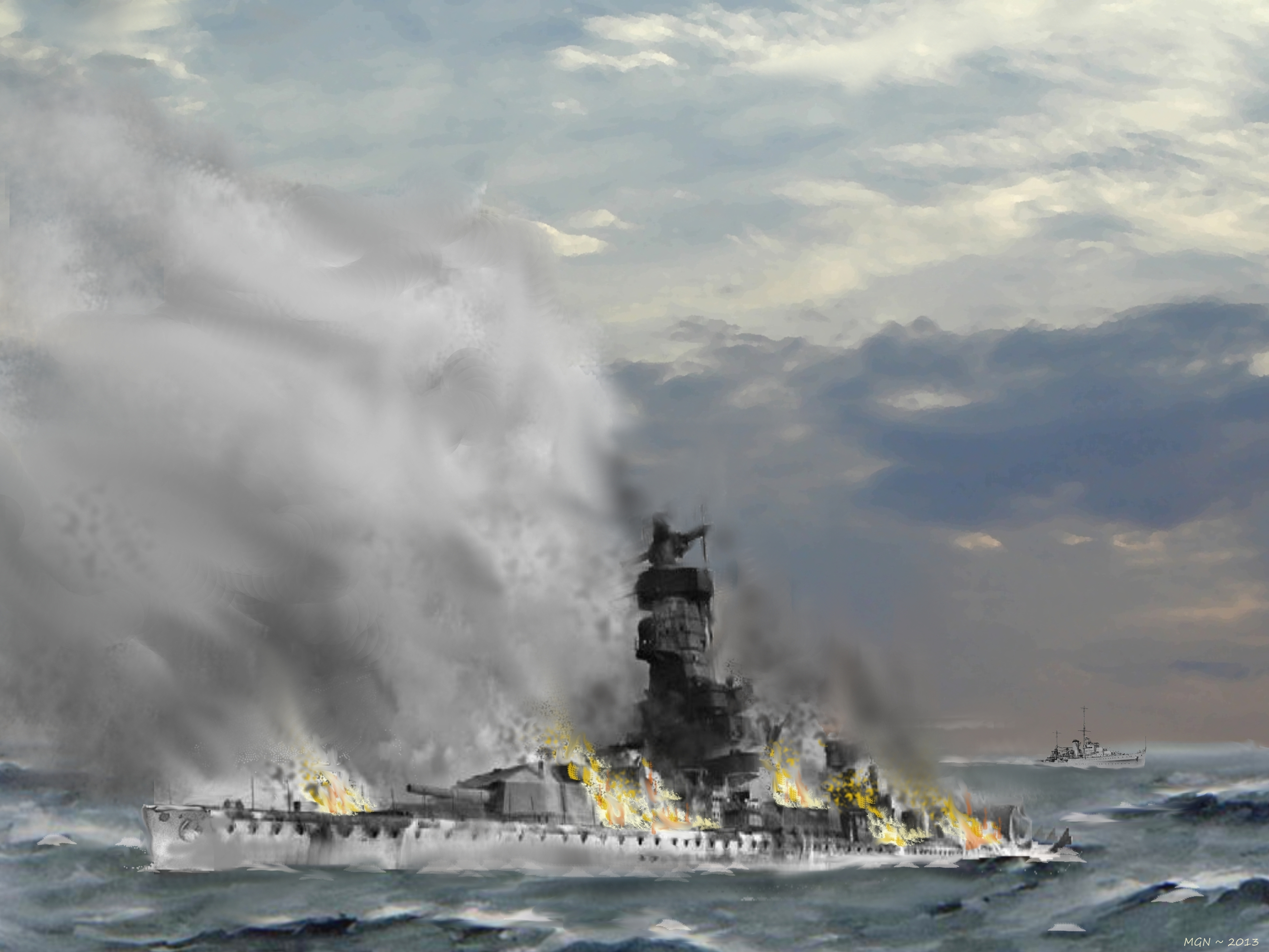 Scuttling of the Admiral Graf Spee by zulumike