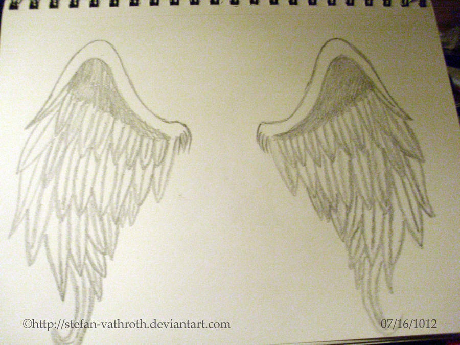 Angel Wings Drawn By Me Gothic Rebel