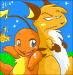 Charmander and Raichu