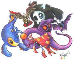Six Pokemon by sawaka
