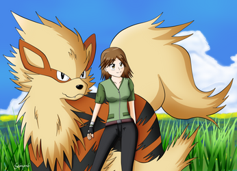 A Pokemon Trainer and her Arcanine