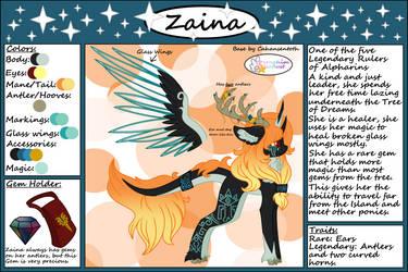 Zaina's Ref Sheet by SeraphimStardust