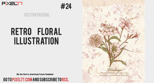 Free retro floral illustration by pixel77-freebies