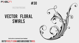 Free vector floral swirls by pixel77-freebies