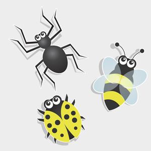Free Vector of the Day #111: Bug Icons by pixel77-freebies