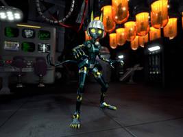 3D Robo-Fortune Fan Art by leojones