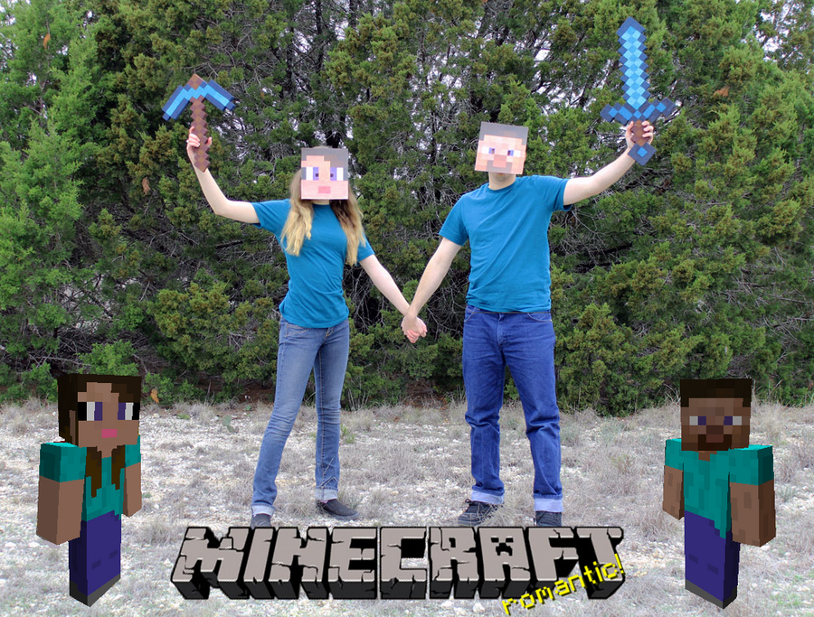 Minecraft Romantic Valentine's Day by CharmandersFlame