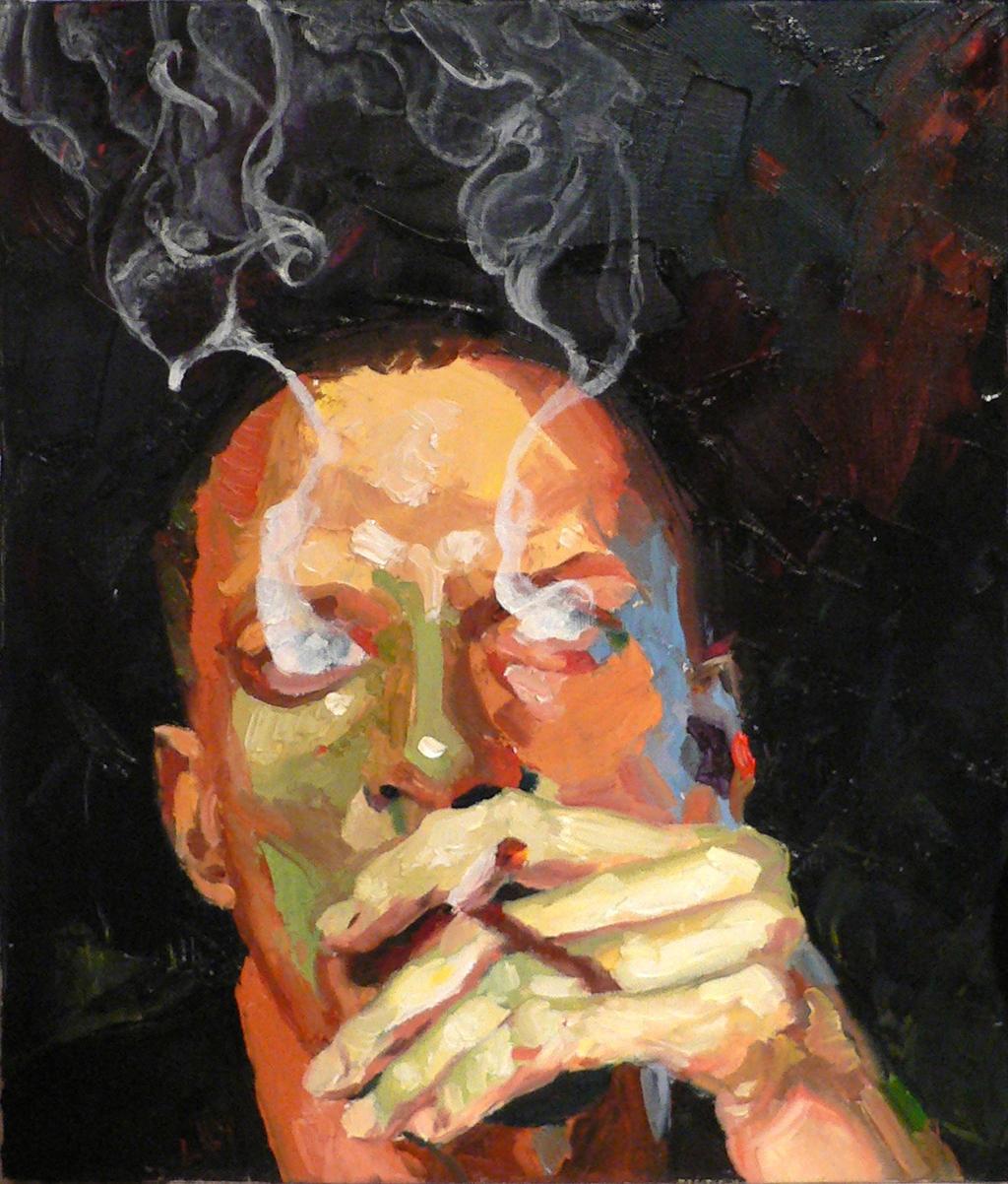 Smoke (self-portrait) by bfaupin