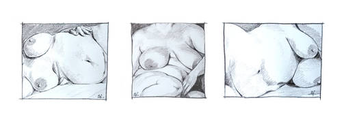 Trois graces - triptych by bfaupin