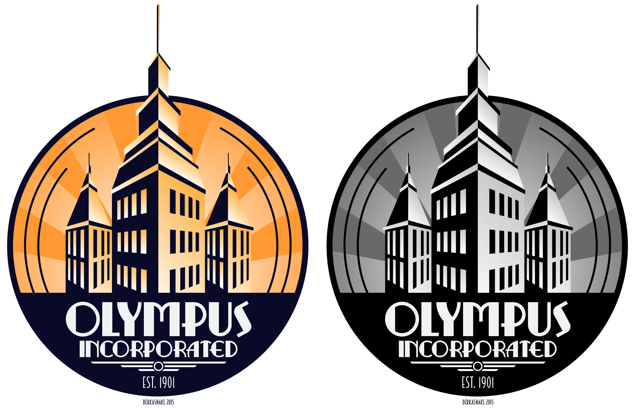 olympus incorporated art deco logo by derkasnake on deviantart. Black Bedroom Furniture Sets. Home Design Ideas