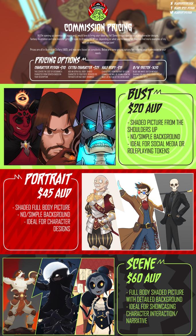 Commission Sheet 2018 by BlackSpotDesign