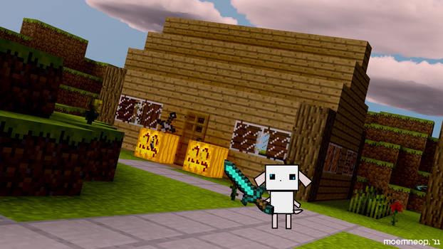 Spot plays Minecraft