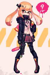 Splatoon X Girls' Frontline: UMP9 by makaroll410