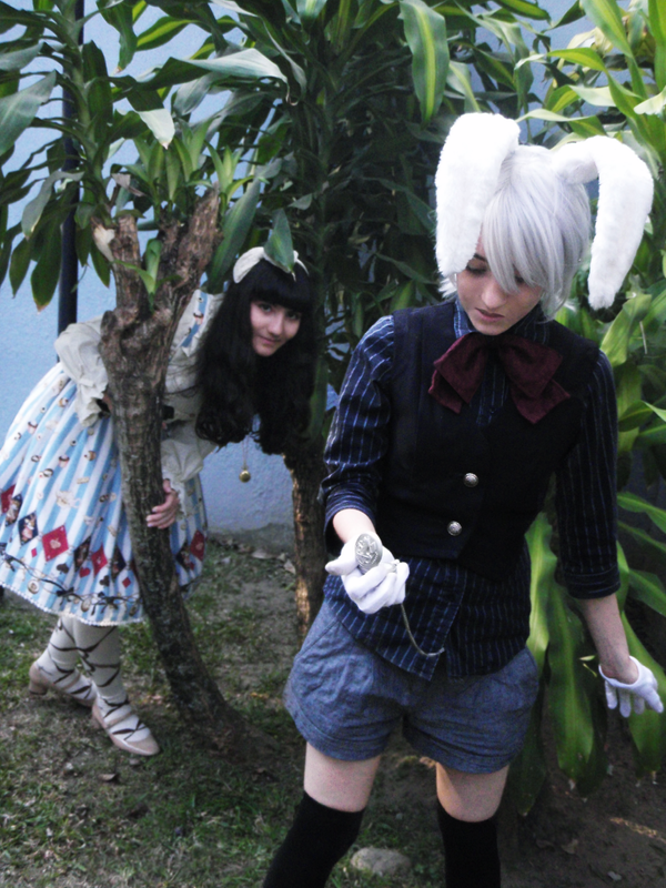 Alice and the Rabbit [Lolita and Kodona] by TellitaMS