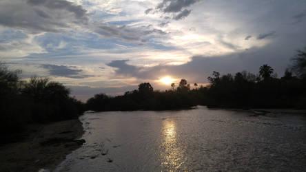 Water Sunset Stock Free by LittleKricketPony5