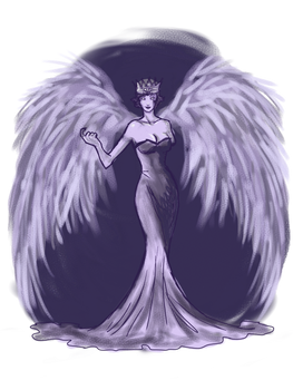 Winged Black Queen