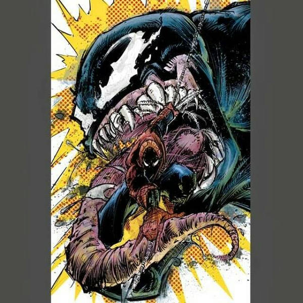 Spidey vs Venom by phour-nyne-guy