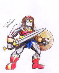 Wonder Woman Male Machoke by LennyB8000