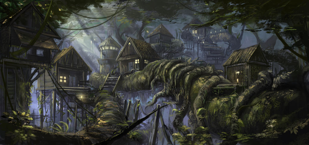 Hidden Village by SkyrisDesign