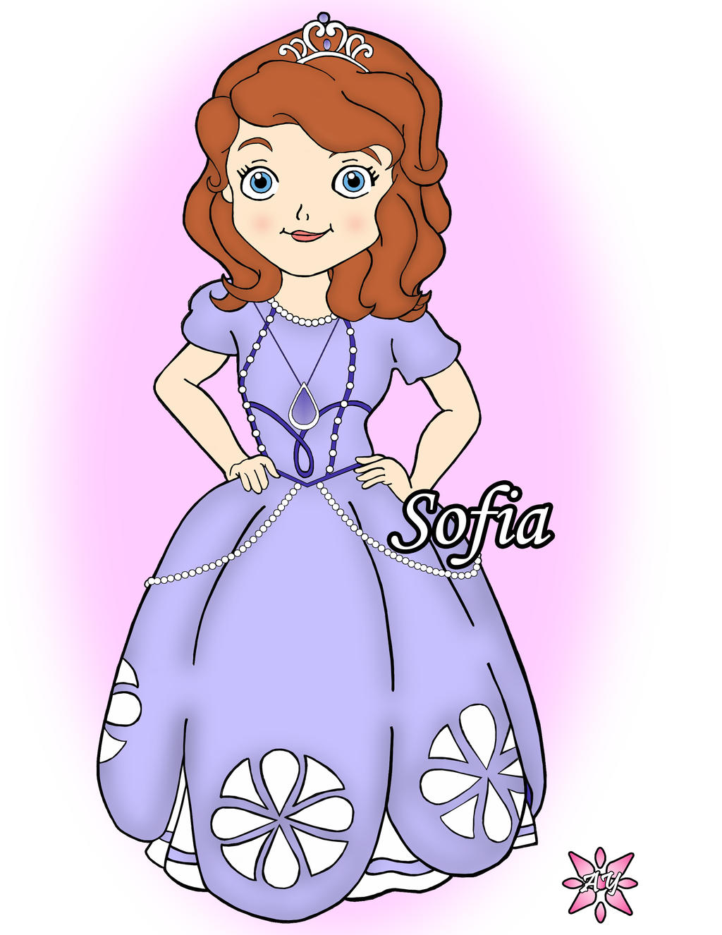 Sofia The First Edible Image Cake Topper