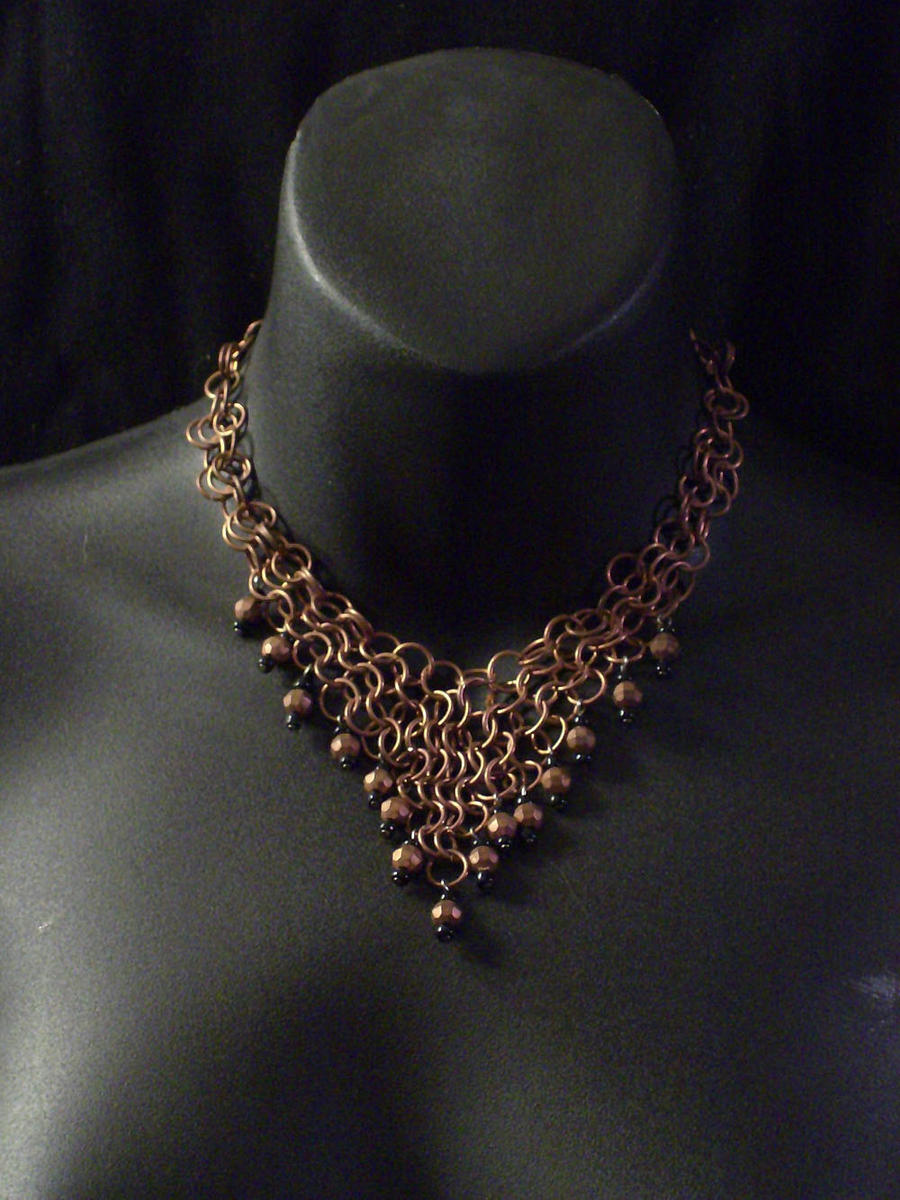 Copper Chainmail Necklace by MorganCrone