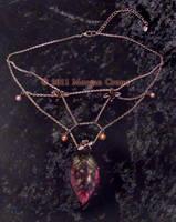 Silver Web Leaf Necklace-1