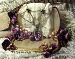 Silver Web Leaf Necklace-2