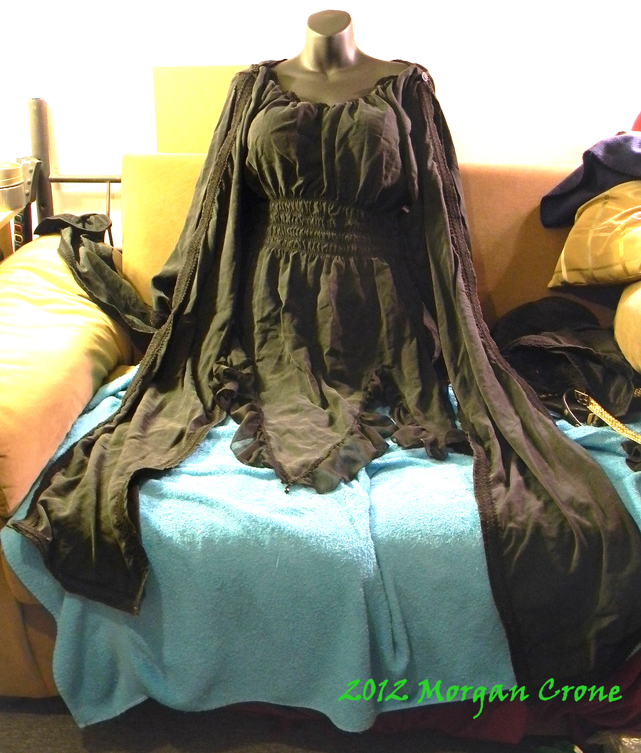 Black Tunic Dress Top by MorganCrone